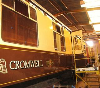 Pullman Carriage undergoing refurbishment - Rampart