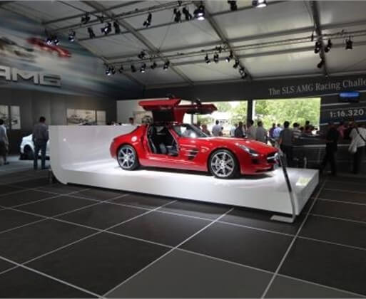 Wisa Multifloor being used in showroom for Goodwood Festival of Speed