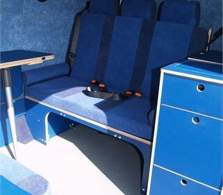 Blue Futura used for Camper Van by Amdro