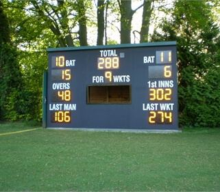 Black Multiwall Cricket Scoreboard bu Andrew Ashworth